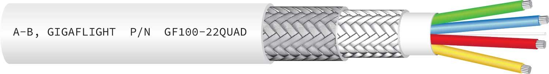 GF100-22QUAD 100Base-T Quadrax Ethernet Cable